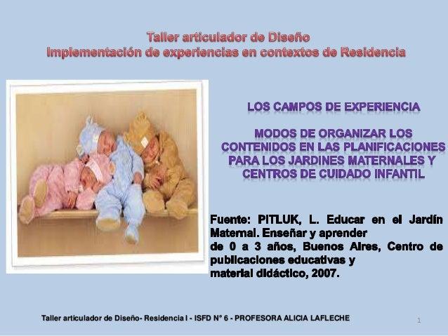 Contenidos organizadores de los campos en el jard n maternal for Diseno curricular jardin maternal