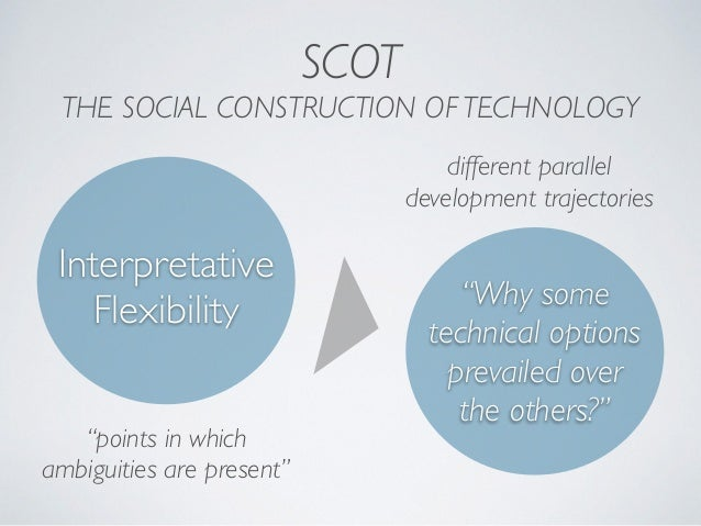 """SCOT THE SOCIAL CONSTRUCTION OF TECHNOLOGY Interpretative Flexibility """"points in which ambiguities are present"""" different ..."""