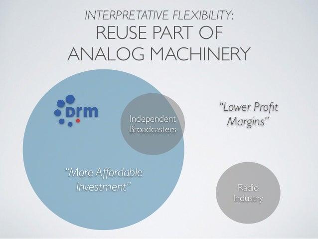 "INTERPRETATIVE FLEXIBILITY: REUSE PART OF ANALOG MACHINERY Radio Industry ""Lower Profit Margins""Independent Broadcasters ""M..."