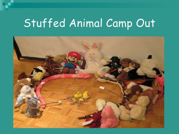 Stuffed Animal Camp Out