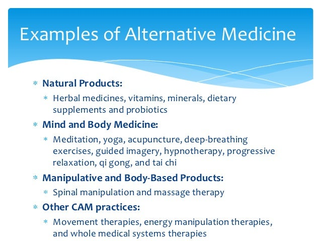 Natural Health Products Examples