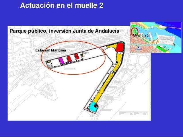 Actuación en el muelle 2  Parque público, inversión Junta de Andalucía Muelle 2 Estación Marítima