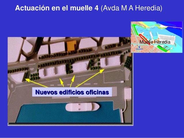 Actuación en el muelle 4 (Avda M A Heredia)  Muelle Heredia  Nuevos edificios oficinas