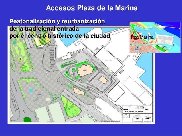 Accesos Plaza de la Marina Peatonalización y reurbanización de la tradicional entrada por el centro histórico de la ciudad...