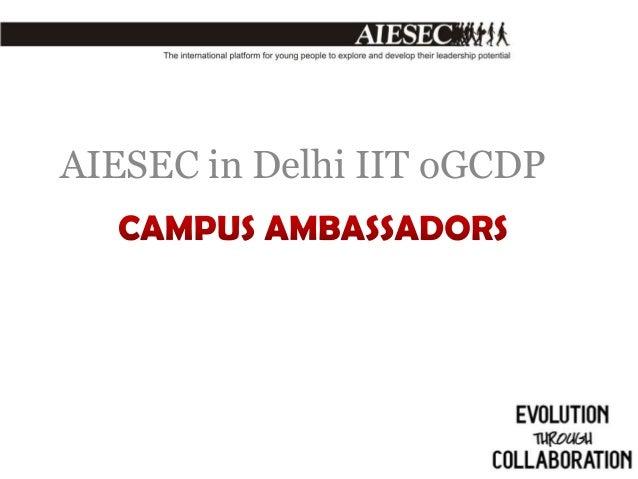 AIESEC in Delhi IIT oGCDP