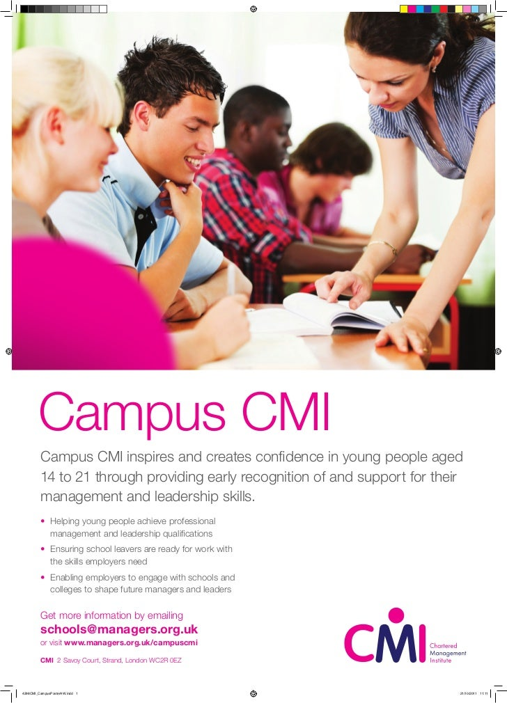 Campus CMI         Campus CMI inspires and creates confidence in young people aged         14 to 21 through providing earl...