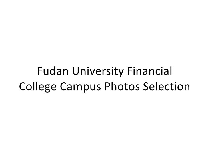 Fudan University Financial College Campus Photos Selection
