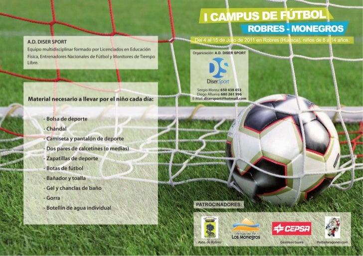 Campus fútbol robres monegros
