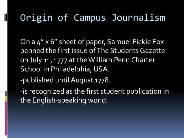 Thesis Campus Journalism