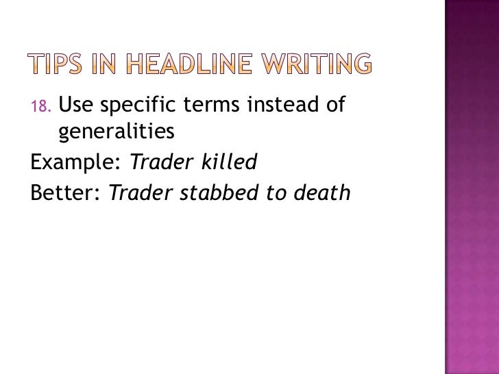 copyreading and headline writing pdf