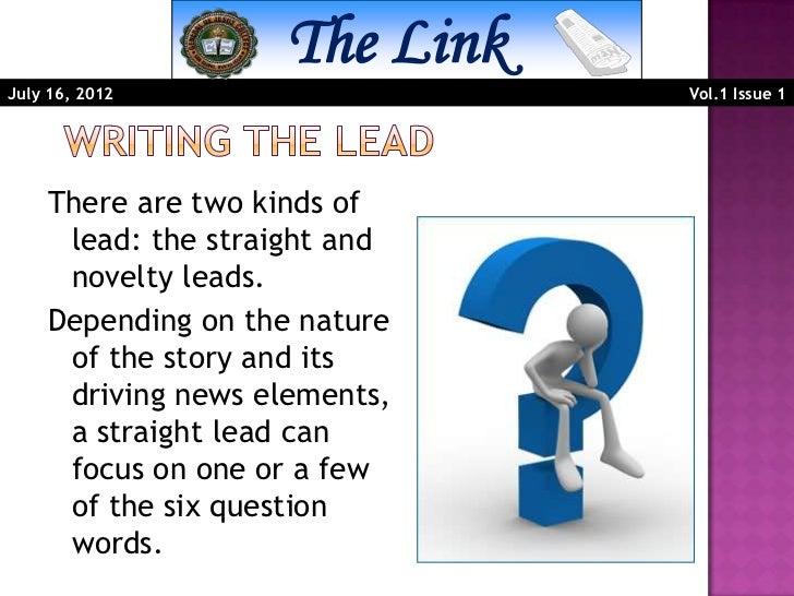 news lead definition