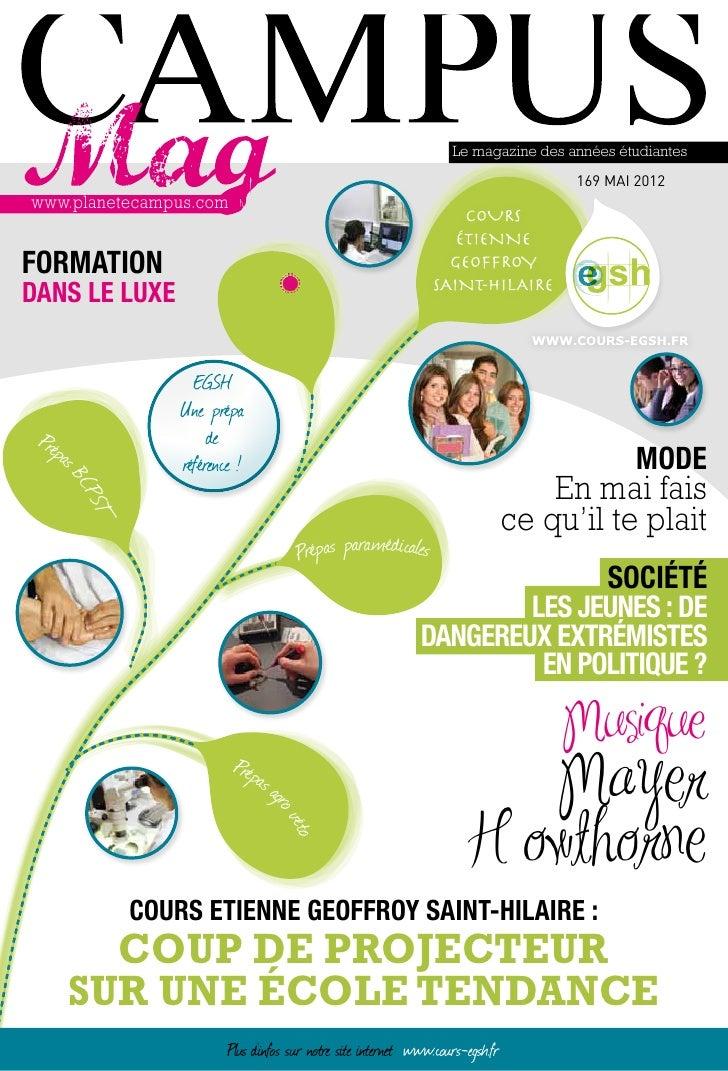 Le magazine des années étudiantes                                                                             169 MAI 2012...