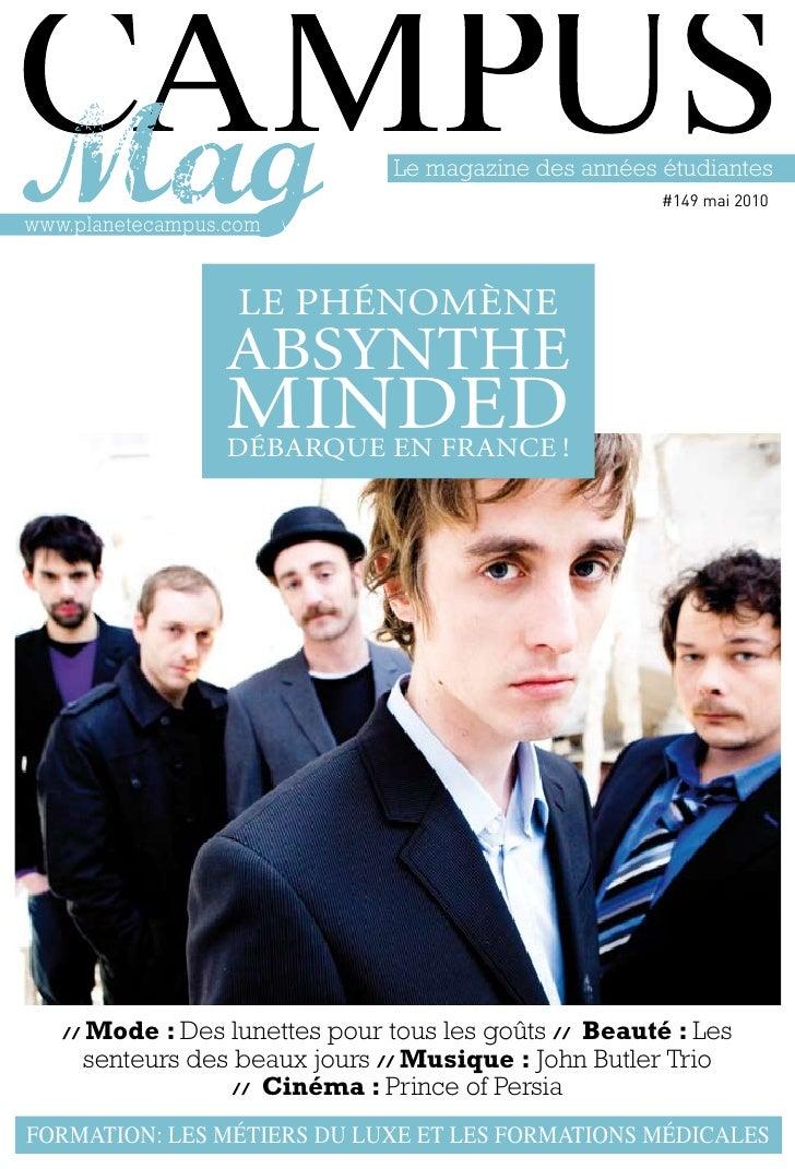 Le magazine des années étudiantes                                                        #149 mai 2010 www.planetecampus.c...