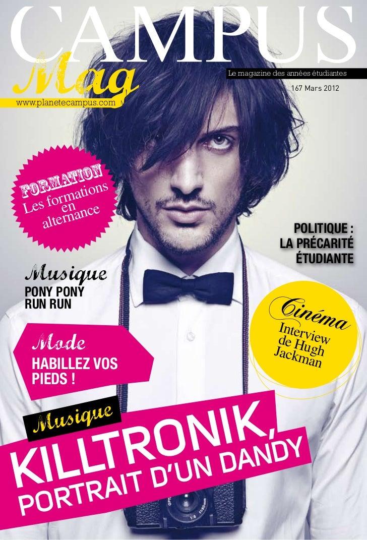 Le magazine des années étudiantes                                         167 Mars 2012www.planetecampus.com         n    ...