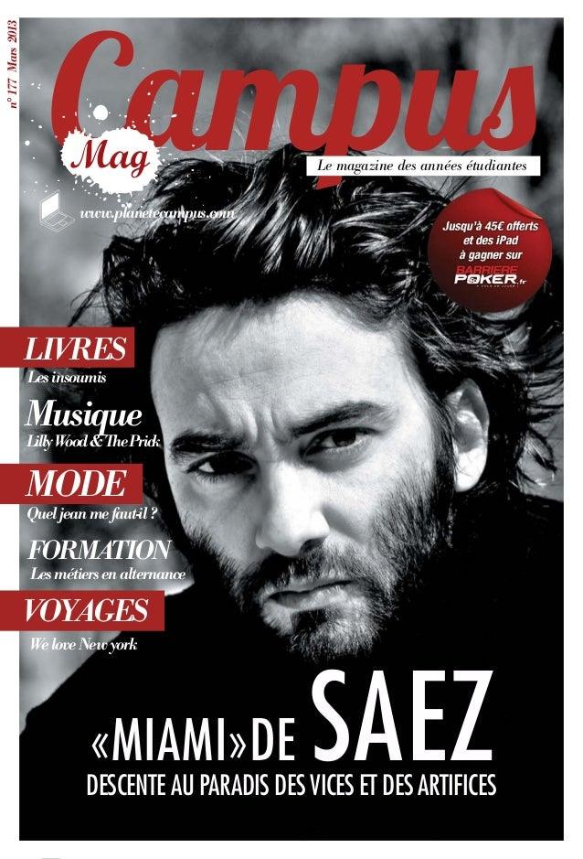 Campusn° 177 Mars 2013                                                      Le magazine des années étudiantes             ...