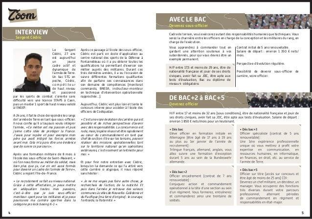 Le Sergent Cédric, 27 ans est aujourd'hui un jeune cadre actif et dynamique de l'armée de Terre. Un bac STG en poche, Cédr...