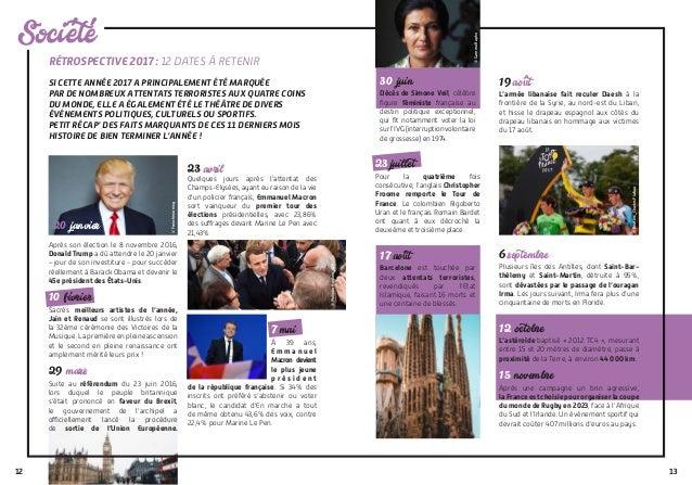 12 Societe RÉTROSPECTIVE 2017 : 12 DATES À RETENIR SI CETTE ANNÉE 2017 A PRINCIPALEMENT ÉTÉ MARQUÉE PAR DE NOMBREUX ATTENT...