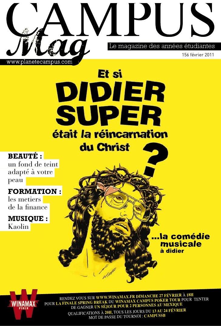 Le magazine des années étudiantes                                                                            156 février 2...