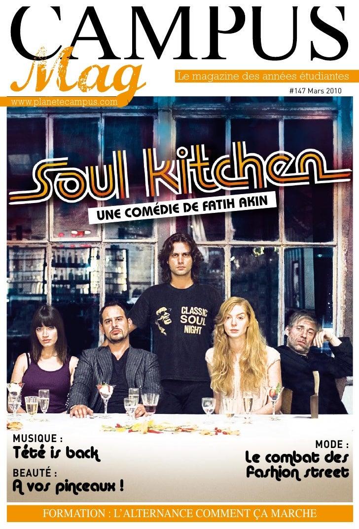 Le magazine des années étudiantes                                                    #147 mars 2010 www.planetecampus.com ...