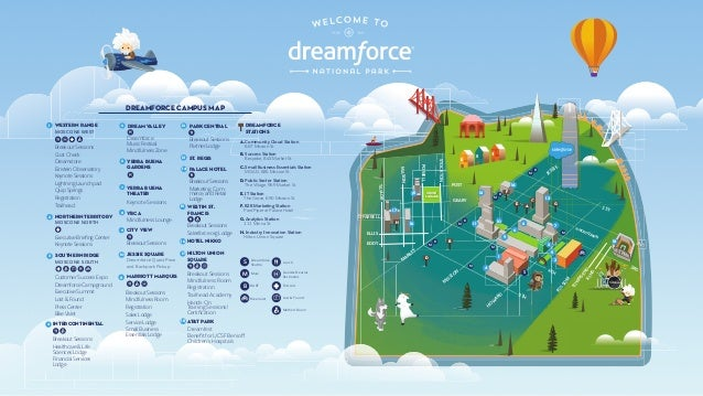 Dreamforce '17 Campus Map - Alternative Version on