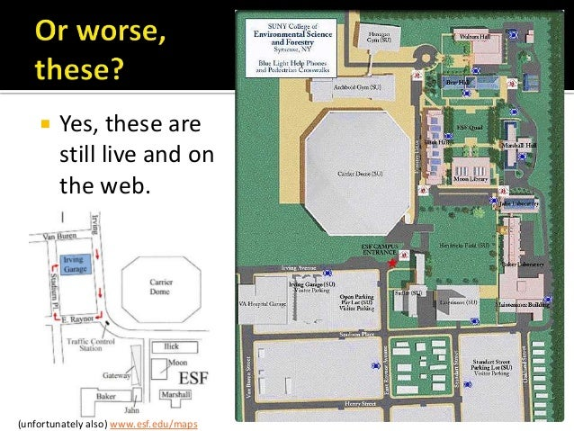 Suny Esf Campus Map.Adventures In Campus Mapping Highedweb Florida 2013