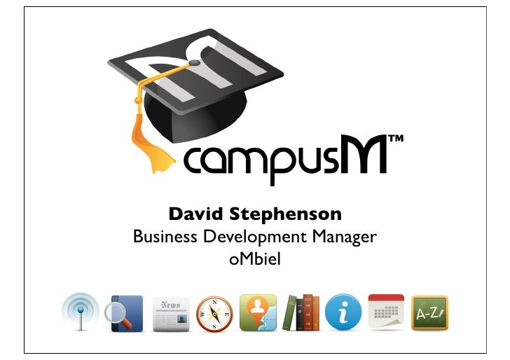 David Stephenson Business Development Manager            oMbiel