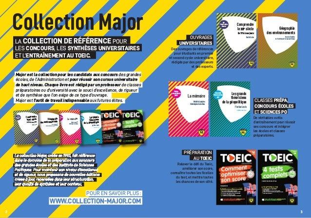 Collection Major La collection de référence pour les concours, les synthèses universitaires et l'entraînement au TOEIC. Ma...