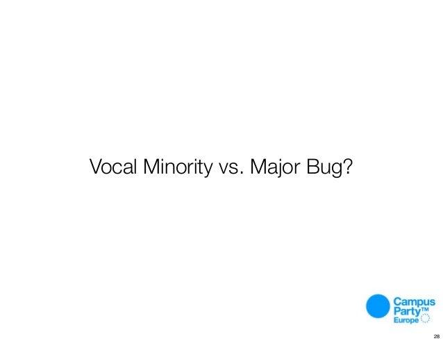Vocal Minority vs. Major Bug? 28