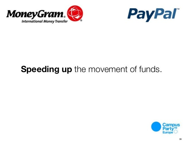 Speeding up the movement of funds. 36