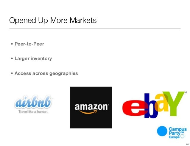 Opened Up More Markets • Peer-to-Peer • Larger inventory • Access across geographies 44