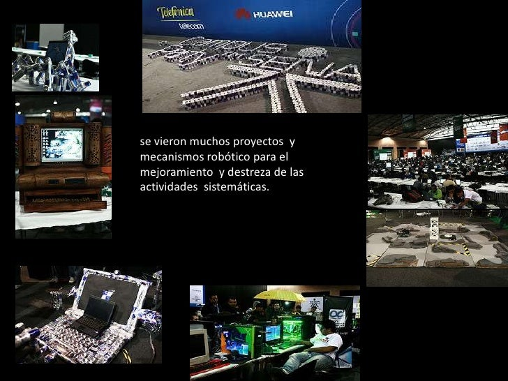 se vieron muchos proyectos  y mecanismos robótico para el mejoramiento  y destreza de las actividades  sistemáticas. <br />