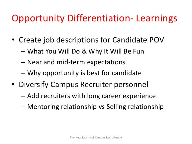 Campus Recruiting for Gen Y Candidates