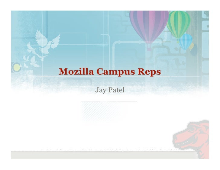 Mozilla Campus Reps       Jay Patel