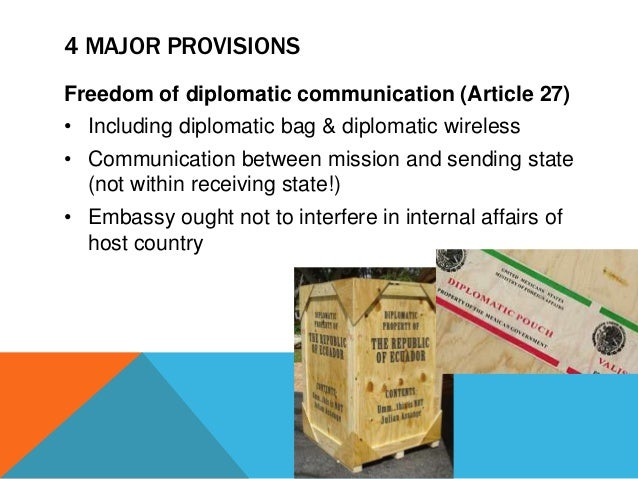 """evolution of diplomatic privileges and immunities Diplomatic immunities and privileges act act (viii) """"the convention on the privileges and immunities of the specialised agencies, 1947"""" means the convention on the privileges and immunities of the specialised agencies, adopted on 21 november 1947, as may be applicable in the."""