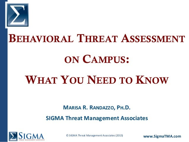 Behavioral Threat Assessment on Campus: What You Need to Know Slide 2