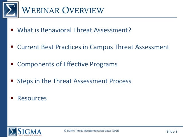 Behavioral Threat Assessment on Campus: What You Need to Know Slide 3