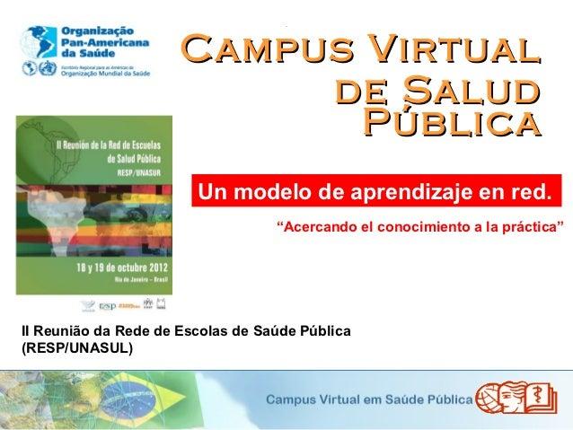 .                      Campus Virtual                           de Salud                             Pública              ...