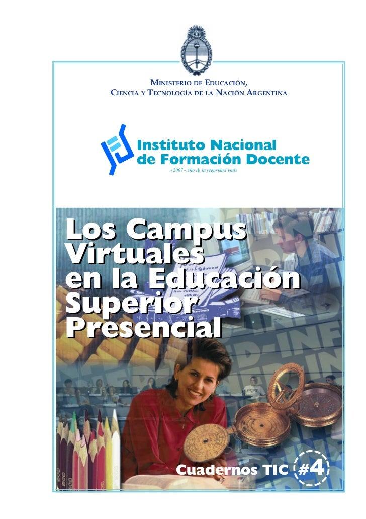 MINISTERIO DE EDUCACIÓN,  CIENCIA Y TECNOLOGÍA DE LA NACIÓN ARGENTINA        Instituto Nacional        de Formación Docent...