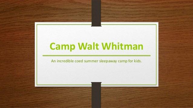 Camp Walt Whitman An incredible coed summer sleepaway camp for kids.