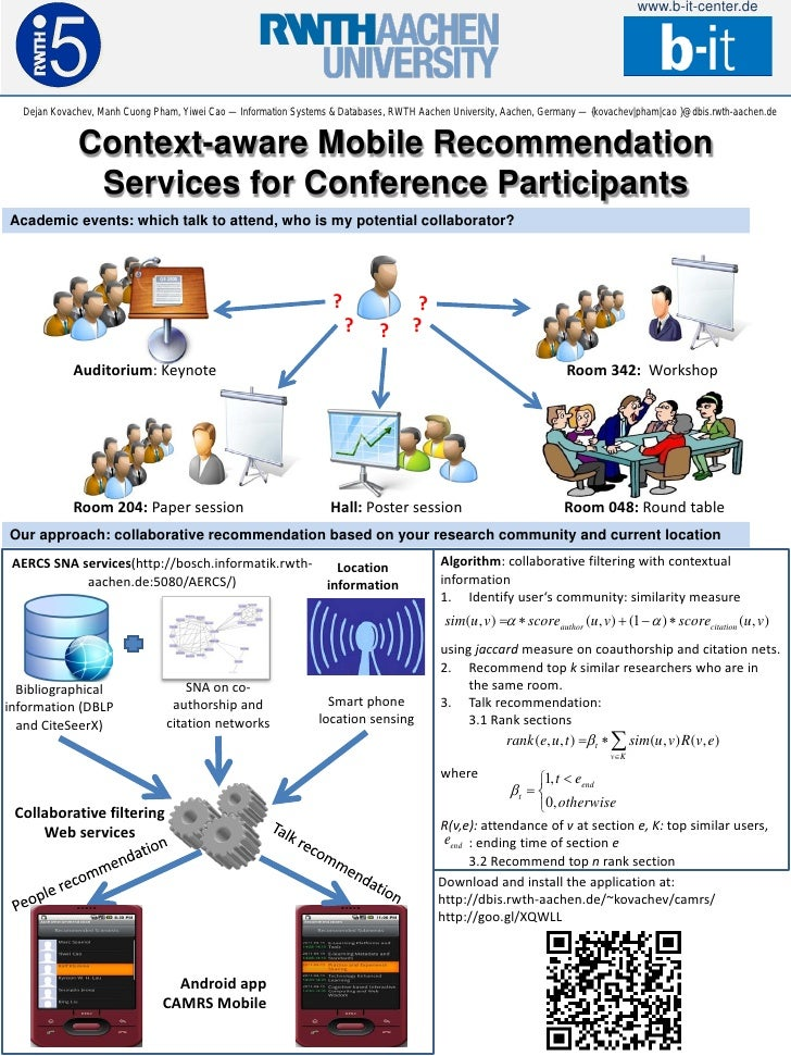 www.b-it-center.de  Dejan Kovachev, Manh Cuong Pham, Yiwei Cao — Information Systems & Databases, RWTH Aachen University, ...
