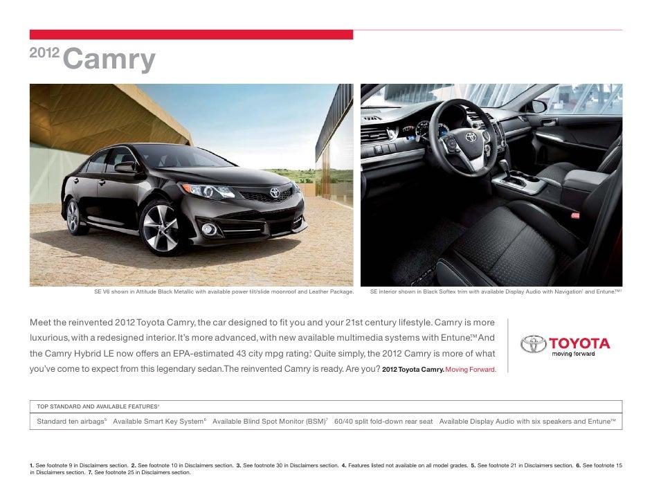 2012 Toyota Camry Cabe Toyota