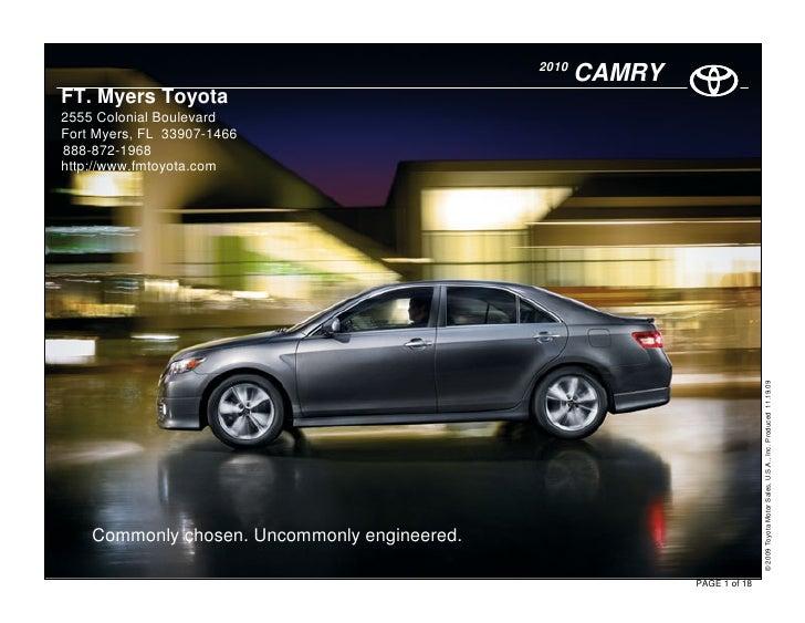 2010 Toyota Camry Hybrid Ft Myers Toyota Fort Myers Fl