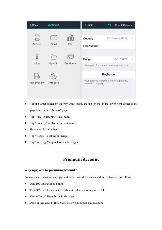 CamScanner Iphone Manual English