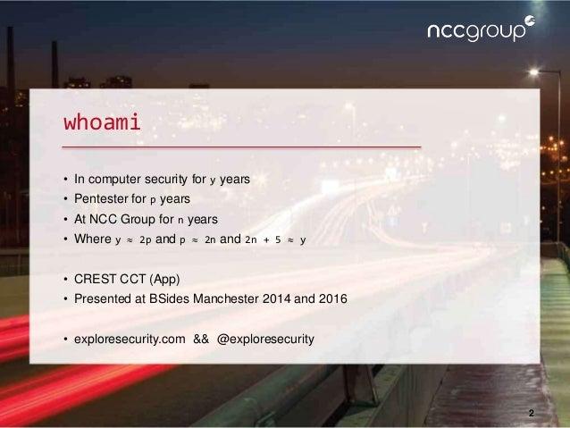 CamSec Sept 2016 - Tricks to improve web app excel export attacks Slide 2