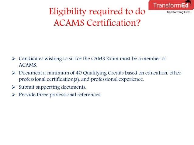 acams certification