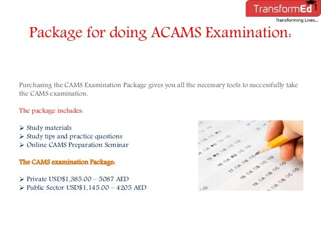 Acams study guide for test