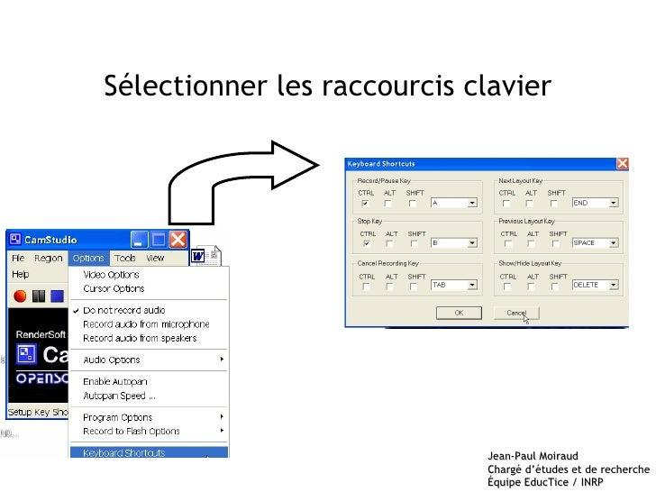 Sélectionner les raccourcis clavier