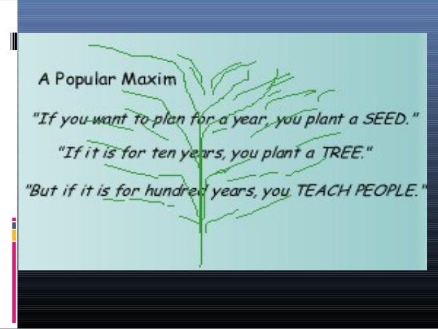 MAXIMS OF TEACHING