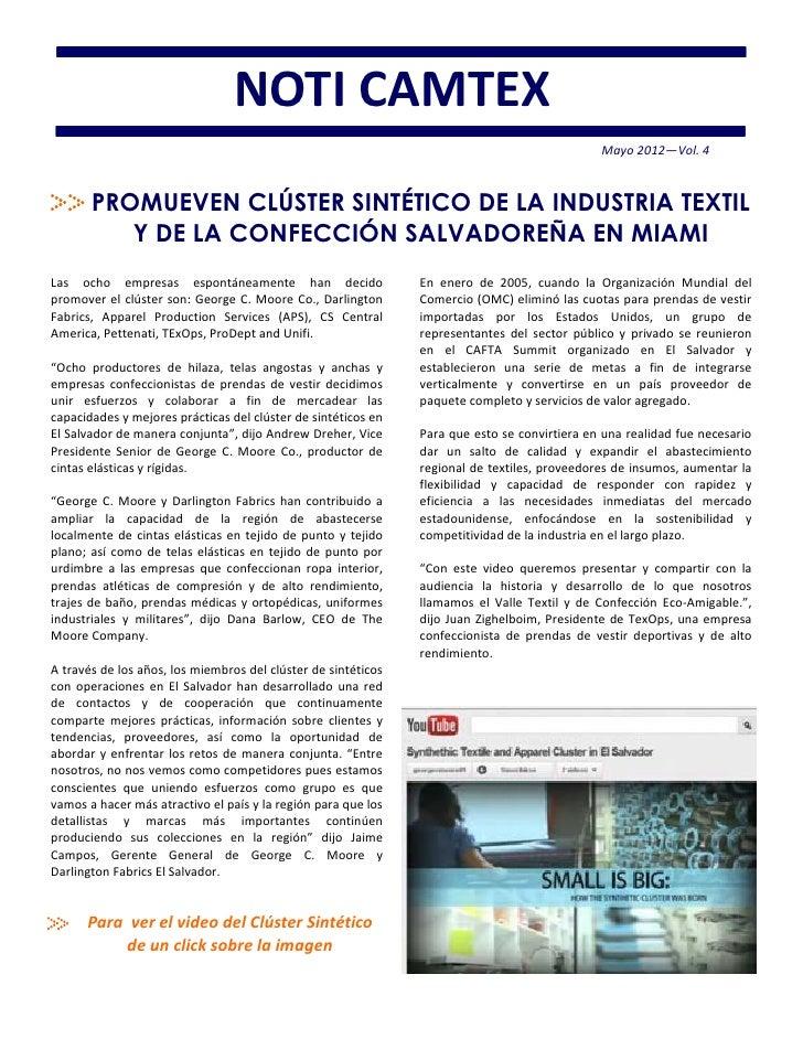NOTI CAMTEX                                                                                              Mayo 2012—Vol. 4 ...