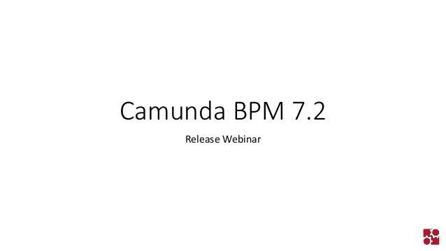 Camunda BPM 7.2  Release Webinar